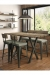 Amisco's Architect Double Barstool Bench with Pub Table and Two Stools in Industrial Dining Room