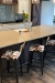 "Amisco's Modern Upright 26"" Inch Bar Stools in Farmhouse Country Kitchen"
