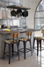Amisco Upright Stationary Stool in Industrial Modern Kitchen
