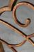 Handmade Metal Finish on the Anderson Swivel Stool