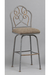 Armstrong Swivel Bar Stool with Elegant Back Design