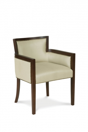 Fairfield's Albany Wood Dining Chair Upholstered with Arms