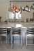 Wesley Allen's Benton Modern Stationary Barstools in Silver in Modern Industrial Kitchen
