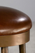 Cassia Backless Swivel Stool with Copper Bisque metal finish