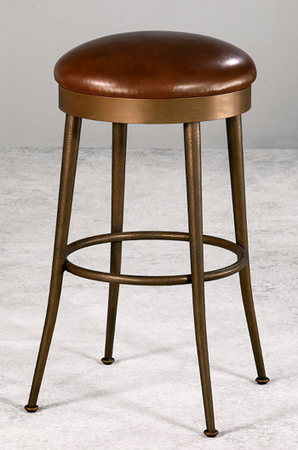 Cassia Backless Swivel Stool with Gentle Curves by Wesley Allen