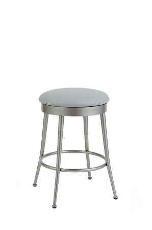 Wesley Allen's Cassia Backless Swivel Counter Stool with Round Seat Cushion