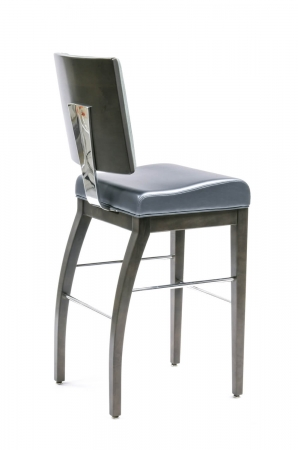 Gasser's Hollywood Modern Upholstered Bar Stool with Back - Back View