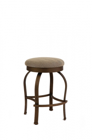 Wesley Allen's Eureka Backless Swivel Bar Stool with Slightly Curved Legs