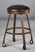 Everton Backless Swivel Stool with an Old World Look