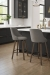Amisco's Diaz Modern Wood Swivel Bar Stools in Modern Kitchen