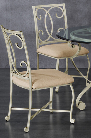Wesley Allen's Gibson Casual Dining Chair in Distressed White finish