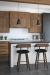 Amisco's Zao Modern Low Back Wood Bar Stools in Wood Kitchen