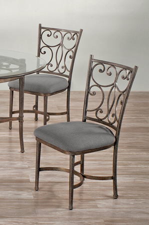 <strong>Metal Finish</strong>: Copper Bisque • <strong>Seat Fabric</strong>: Loft Grey