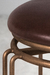 Holly Backless Swivel Stool in Copper Bisque iron metal finish