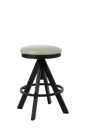 "Wesley Allen's Manchester Backless Adjustable Swivel Stool 24"" up to 30"""