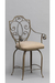 Wesley Allen's Meridian Swivel Counter Stool with Decorative Arms