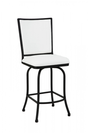 Wesley Allen's Morrison Swivel Barstool with Upholstered Seat and Back