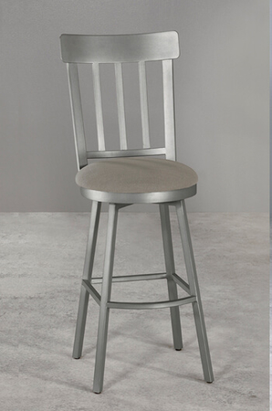<strong>Metal Finish</strong>: Aged Nickel  • <strong>Seat Fabric</strong>: Loft Grey