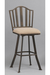 Springdale Swivel Bar Stool in 30-Inch with Old Copper Iron Metal Finish
