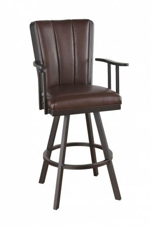 Callee Bogart Flex Back Swivel Stool with Arms