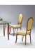 Formal Upholstered Oval-Back Dining Chair by Lisa Furniture