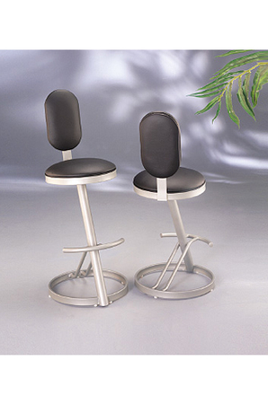 Ultra Modern Oval-Shaped Swivel Counter Stool by Lisa Furniture
