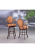 Oval Shaped Classic Barstool with Arms and Upholstery by Lisa Furniture