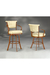 Kenna Swivel Stool with Arms and Upholstered Back/Seat #2046
