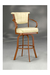 Kenna Comfortable Swivel Stool with Arms #2046 by Lisa Furniture