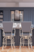Lisa Furniture's #2545 High Quality Tilt Swivel Bar Stool with Arms in Transitional Kitchen