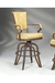 Lisa Furniture #2545 Rocking Tilt Swivel Bar Stool with Arms