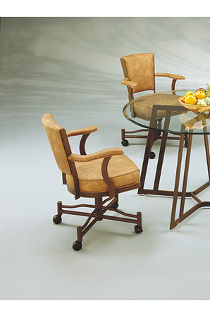 John Tilt Swivel Dining Chair with Arms by Lisa Furniture