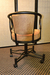 Caroline Tilt Swivel Upholstered Metal Chair with Arms