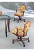 Shield Back Tilt Swivel Dining Chair with Arms
