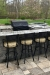 Gwen's Outdoor Swivel Metal Barstools with Arms in Spectator Height - Near Pool
