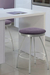 Trica Adam Backless Swivel Vanity Chair near small desk