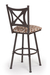 Trica Aramis Swivel Stool with Cross Back Design