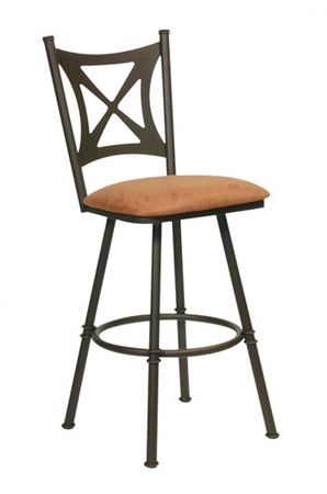 Trica Aramis Swivel Stool with High Back