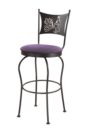 Trica Art Collection 1 Swivel Stool, Grape and Wine Themed
