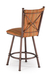 Trica Arthur 1 Swivel Stool with Cross Back Upholstered Back