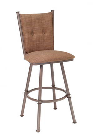 Trica Arthur 1 Swivel Stool with Button-Tufted High Back