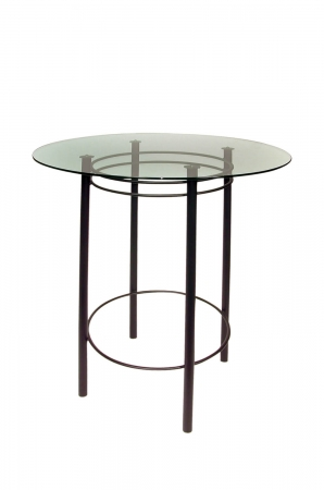 Trica's Astro Counter Height Table with Glass Top