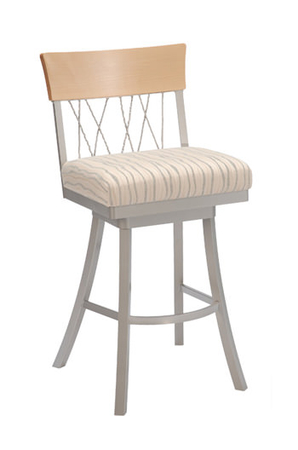 Trica Bambusa 1 Swivel Stool with Wide Seat
