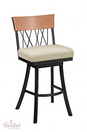 Bambusa Large Seat Modern Swivel Counter Or Bar Stool