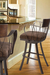 Trica Bambusa 2 Swivel Stool in Traditional Kitchen