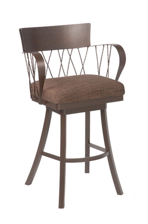 Trica Bambusa Swivel Stool with Arms