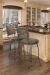 Trica's Bill 1 Swivel Barstools in Brown, Open Kitchen with Hardwood Floors