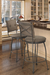Trica Bill 1 Swivel Stool with Cross Back Upholstered Back