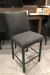 Trica's Biscaro Counter Height Stationary Upholstered Gray Barstool