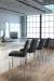 Trica's Biscaro Stationary Modern Upholstered Bar Stool in Modern, White Kitchen